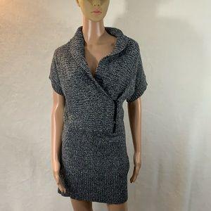 Candie's dress size M zipper, v-neck, short sleeve